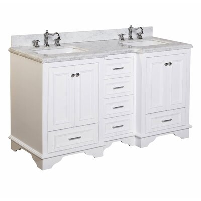 kbc nantucket 60 quot double bathroom vanity set reviews