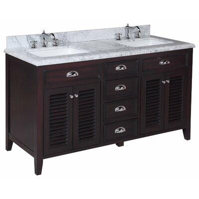 "Savannah 60"" Double Bathroom Vanity Set Product Photo"