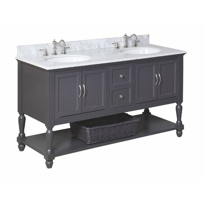 "Beverly 60"" Double Bathroom Vanity Set Product Photo"