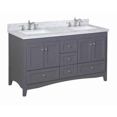 "Abbey 60"" Double Bathroom Vanity Set Product Photo"