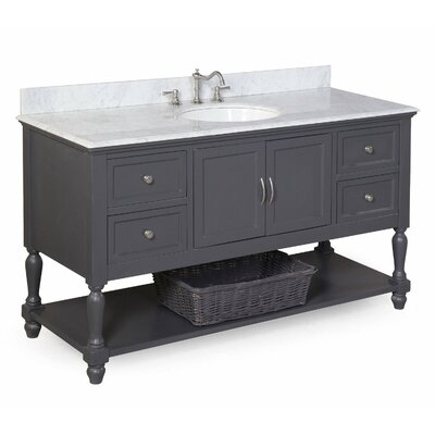 Kitchen Bath Collection Beverly 60quot; Single Bathroom Vanity Set