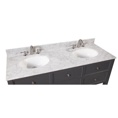 "New Yorker 60"" Double Bathroom Vanity Set Product Photo"