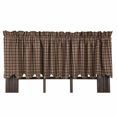 "Prescott Scalloped Lined 72"" Curtain Valance Product Photo"