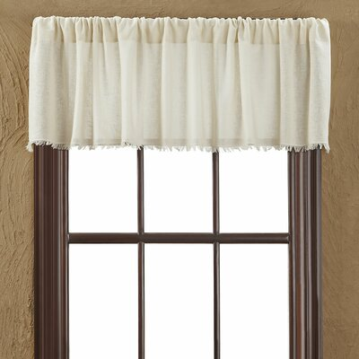 Tobacco Fringed Curtain Valance Product Photo