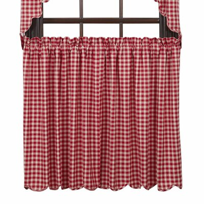 "Breckenridge Scalloped Lined 36"" Tier Curtain (Set of 2) Product Photo"
