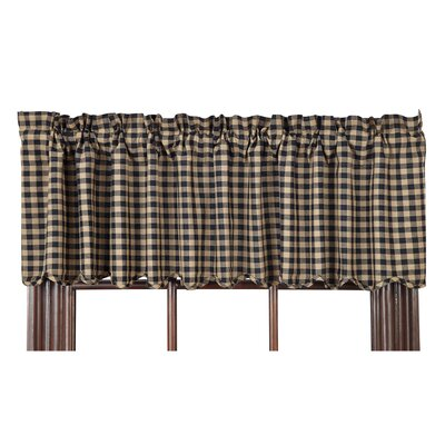 Check Scalloped Curtain Valance Product Photo