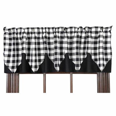Buffalo Check Layered Lined Curtain Valance Product Photo