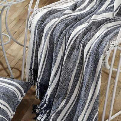Huron Chambray Stripe Throw by VHC Brands