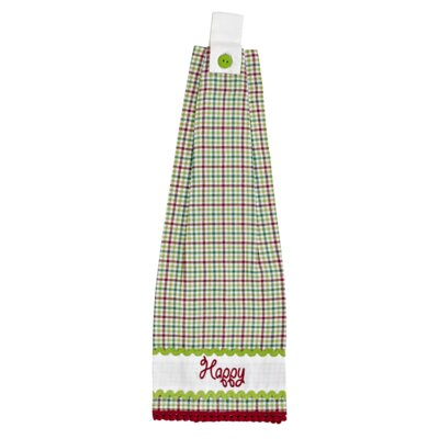 Whimsical Christmas 2 Piece Button Loop Kitchen Towel Set by VHC Brands