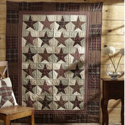 Abilene Star Quilted Cotton Throw by VHC Brands