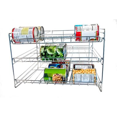 Chromed Kitchen Can Organizer by Axis International