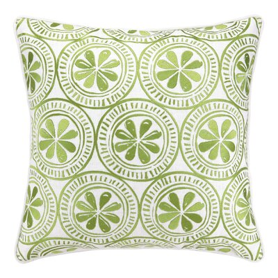 Kate Nelligan Sand Dollar Embroidered Linen Throw Pillow