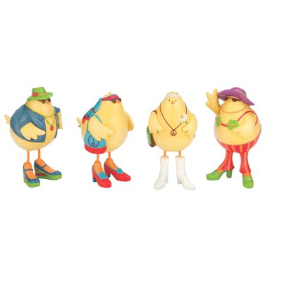 Boston International 4 Piece Hippie Cheeky Chicks Figurine Set