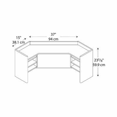 """Bush Business Furniture Series A: 24"""" H x  41"""" W Corner Hutch"""