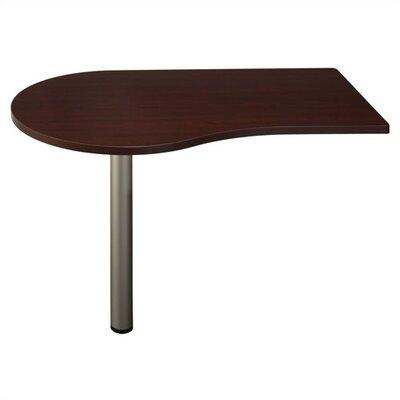 """Bush Business Furniture Quantum 30"""" H x 47.63"""" W Left Peninsula Desk"""