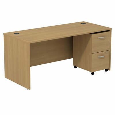 Bush Business Furniture Series C Computer Desk with 2 Drawer File