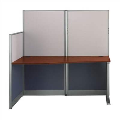"""Bush Business Furniture Office-in-an-Hour 65"""" W Straight Workstation"""