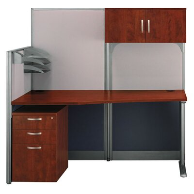Bush Business Furniture Office-in-an-Hour Straight Computer Workstation with Storage