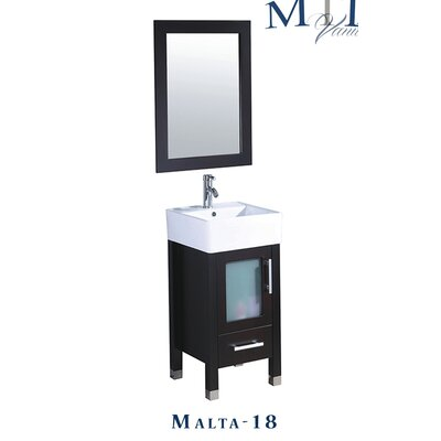 Beautiful MTDVanities Malta 18quot Single Sink Bathroom Vanity Set With Mirror