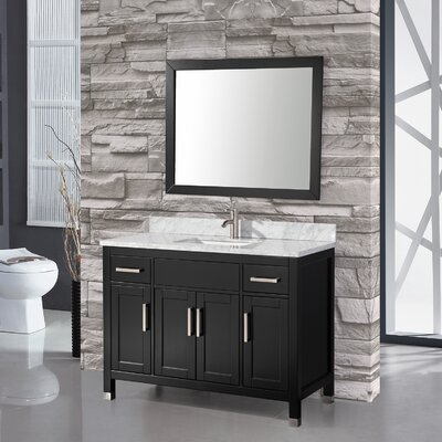 "Ricca 48"" Single Sink Bathroom Vanity Set with Mirror Product Photo"