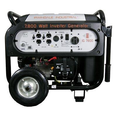 7800 Watt Industrial Digital Gas Powered Inverter Generator by Irwindale Industrial