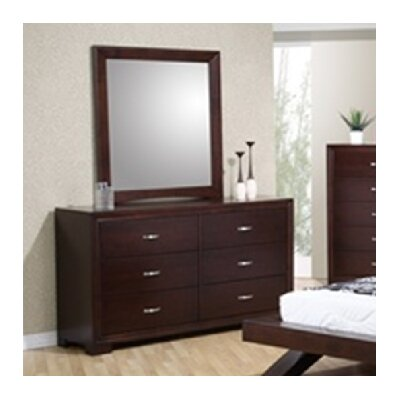Radcliff 6 Drawer Dresser with Mirror by Sunset Trading
