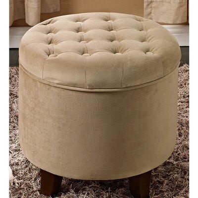 Round Storage Ottoman by HomePop