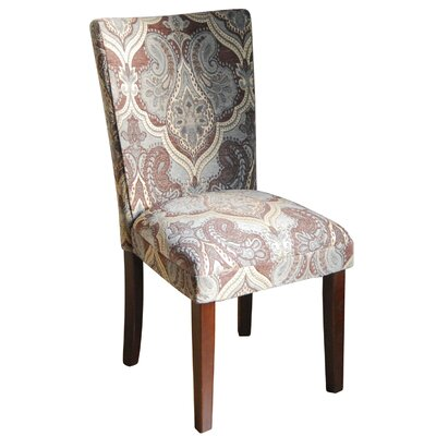 Kinfine Upholstered Damask Parsons Chair by HomePop