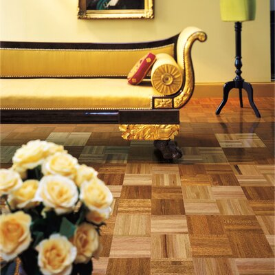 """Armstrong Urethane Parquet 12"""" Solid Oak Parquet Parquet Hardwood Flooring in Standard"""