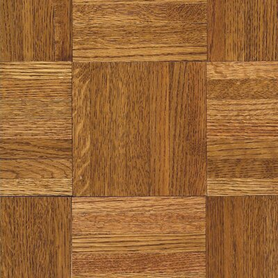 "Armstrong Urethane Parquet 12"" Solid Oak Parquet Hardwood Flooring in Honey"