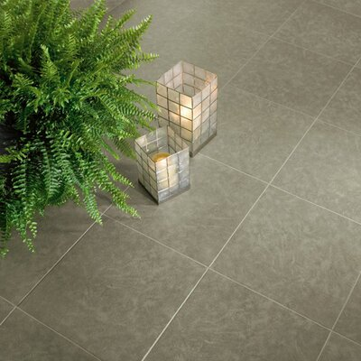 "Armstrong Alterna Talus 16"" x 16"" Luxury Vinyl Tile in Lichen Green"