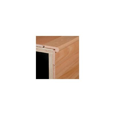 "Armstrong 0.38"" x 2.75"" x 78"" Red Oak Stair Nose in Black Olive"