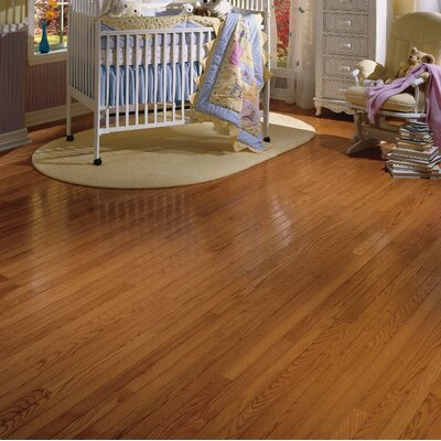 "Bruce Flooring Waltham Strip 2-1/4"" Solid Oak Hardwood Flooring in Brass"