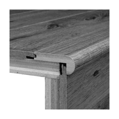 "Bruce Flooring 0.38"" x 2.75"" x 78"" Red Oak Stair Nose in Gunstock"