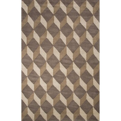 Bristol By Rug Republic Wool Hand Tufted Gray/Brown Area Rug by Jaipur Rugs