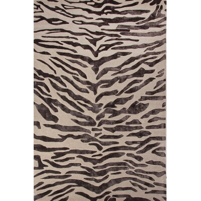 National Geographic Home Hand Tufted Wool and Viscose Tiger Area Rug by Jaipur Rugs