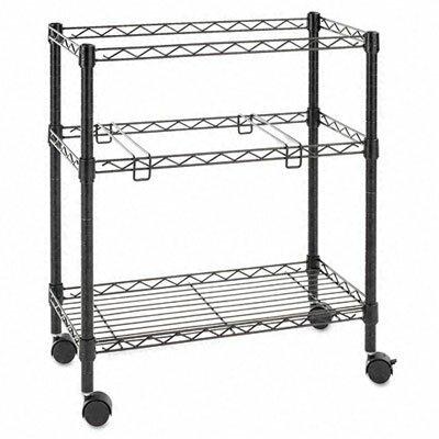 "Alera® 29.5"" 2-Tier Rolling File Cart"