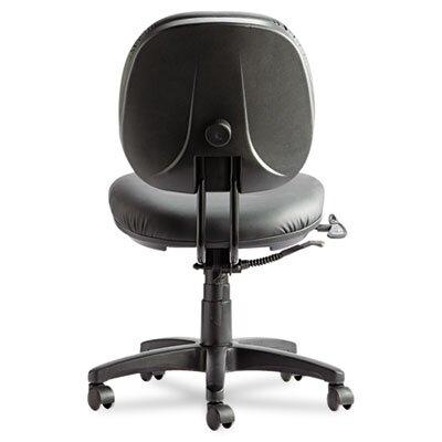 Alera® Interval Series High-Performance Swivel/Tilt Task Chair, Black Leather