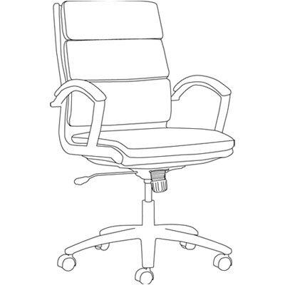 Alera® Neratoli Mid-Back Slim Profile Leather Office Chair