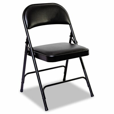 Alera® Steel Folding Chair with Padded Back and Seat