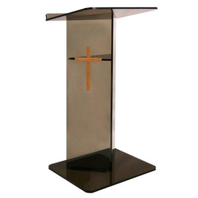 AmpliVox Sound Systems Smoke Acrylic V Speaker Stand
