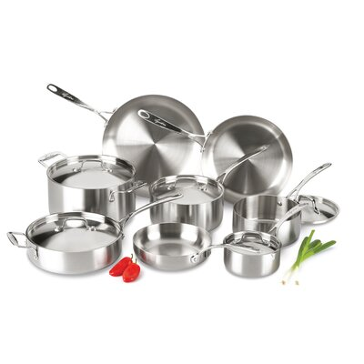 Axia Stainless Steel Tri Ply 13 Piece Cookware Set by Lagostina