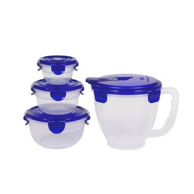 4 Piece Pinch and Measure Measuring Bowl Set by Lock & Lock