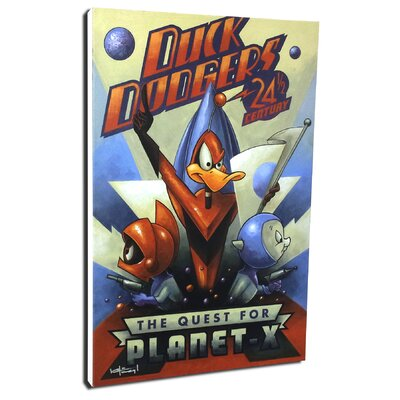 Chuck Jones 'The Quest For Planet X' by Mike Kungl Painting Print on Wrapped Canvas ...