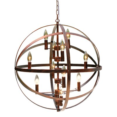 12 Light Antique Orb Sphere Chandelier by LightUpMyHome