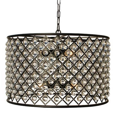 8 Light Crystal Drum Chandelier by LightUpMyHome