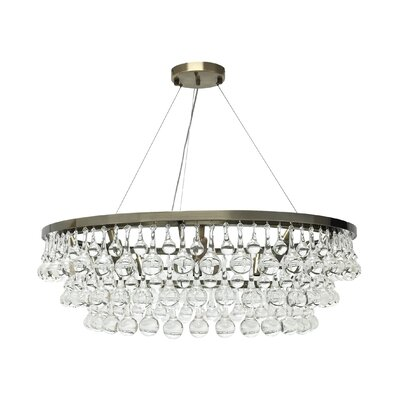 Celeste Glass Drop Crystal Chandelier Product Photo