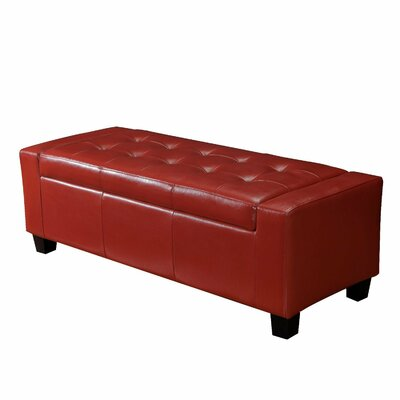 Large Accents Rectangular Tufted Storage Ottoman by AdecoTrading