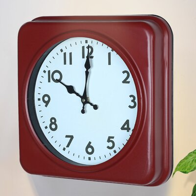 Square Traditional Vintage Dial Retro Wall Hanging Clock by AdecoTrading