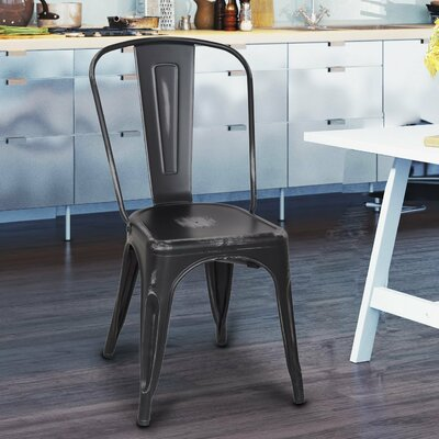 Stacking Dining Side Chair by AdecoTrading